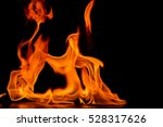 Beautiful Fire Flames On A...
