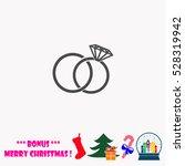 wedding rings  vector... | Shutterstock .eps vector #528319942