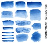 blue watercolour abstract set... | Shutterstock . vector #528329758
