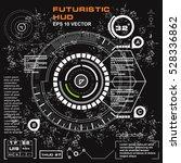 futuristic virtual graphic... | Shutterstock .eps vector #528336862