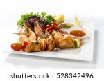 Skewered Chicken Meat Kebab...