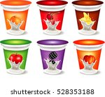 yogurt packaging design... | Shutterstock .eps vector #528353188