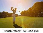 pro golf player shot ball from...   Shutterstock . vector #528356158