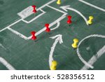 strategy for soccer game with... | Shutterstock . vector #528356512