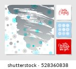 set of christmas decoration... | Shutterstock . vector #528360838