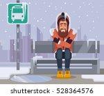 frozen man character waiting...
