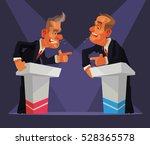 political debate. two speakers... | Shutterstock .eps vector #528365578