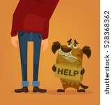 sad dog character need home and ... | Shutterstock .eps vector #528368362