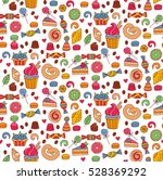 cute colorful sweets bakery... | Shutterstock .eps vector #528369292