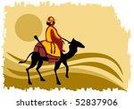 camel caravan | Shutterstock .eps vector #52837906