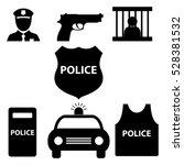 police icon set | Shutterstock .eps vector #528381532