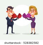 angry businessman fighting... | Shutterstock .eps vector #528382582