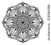 hand drawing doodling mandala...   Shutterstock .eps vector #528384388