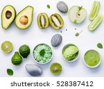 homemade skin care and body... | Shutterstock . vector #528387412