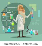 old scientist character. vector ... | Shutterstock .eps vector #528391036