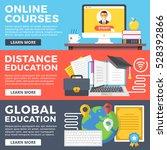 online courses  distance... | Shutterstock .eps vector #528392866
