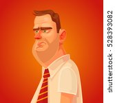 annoyed sad office worker man... | Shutterstock .eps vector #528393082