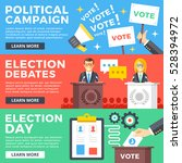 political campaign  election... | Shutterstock .eps vector #528394972