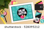 online shopping buy now concept ... | Shutterstock .eps vector #528395212