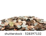 pile of us coins with copy... | Shutterstock . vector #528397132
