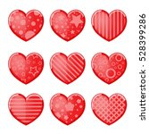 valentine's day background with ... | Shutterstock .eps vector #528399286