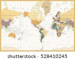 vintage color map america... | Shutterstock .eps vector #528410245