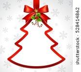illustration of red ribbon bow...   Shutterstock .eps vector #528414862