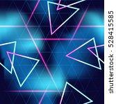 80's futuristic seamless space... | Shutterstock . vector #528415585