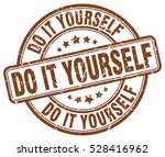 do it yourself. stamp. brown... | Shutterstock .eps vector #528416962