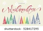 frohe weihnachten colorful... | Shutterstock .eps vector #528417295