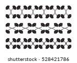 flower isolated vector  black... | Shutterstock .eps vector #528421786