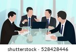 meeting board of directors ... | Shutterstock .eps vector #528428446