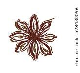 star anise. vector botanical... | Shutterstock .eps vector #528430096