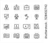 business and office icons with... | Shutterstock .eps vector #528432742