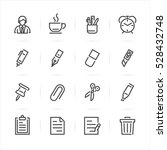 business and office icons with... | Shutterstock .eps vector #528432748