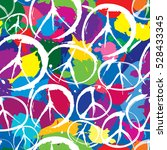 Peace Sign Tile Background....