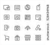 seo and internet icons with... | Shutterstock .eps vector #528434968