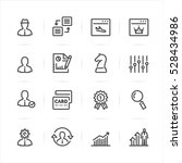 seo and development icons with... | Shutterstock .eps vector #528434986