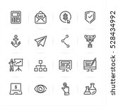 seo and internet icons with... | Shutterstock .eps vector #528434992
