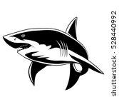 shark mascot. great white shark ... | Shutterstock .eps vector #528440992