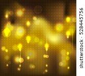 festive gold light on black... | Shutterstock .eps vector #528445756