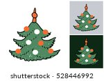 hand drawn christmas or new... | Shutterstock .eps vector #528446992