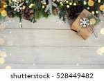 christmas background on the... | Shutterstock . vector #528449482