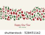 christmas elements icons with...   Shutterstock .eps vector #528451162