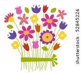 bouquet of flowers   vector | Shutterstock .eps vector #52845226