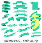 vector ribbons banners flat... | Shutterstock .eps vector #528463072