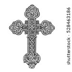 Beautiful Ornate Cross. Sketch...