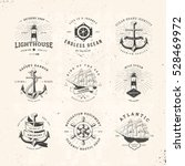 set of vintage nautical... | Shutterstock .eps vector #528469972