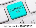contact us word written on... | Shutterstock . vector #528471715