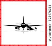 plane and passenger icon vector ... | Shutterstock .eps vector #528476356